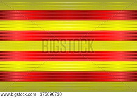 Shiny Grunge Flag Of The Catalonia - Illustration,  Three Dimensional Flag Of Catalonia