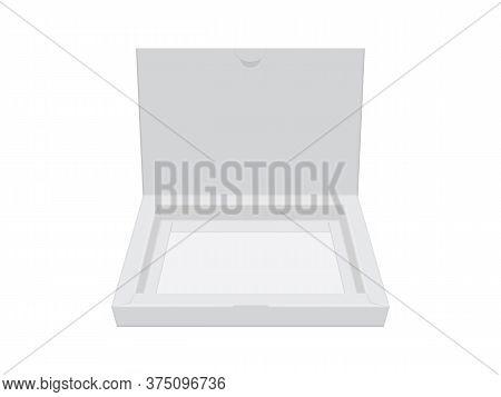 Cardboard Box Open Mock Up Vector Template