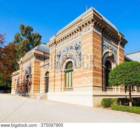 Palacio De Velazquez Or Velazquez Palace In The Buen Retiro Park, One Of The Largest Parks Of Madrid