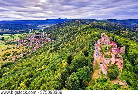 Ruins Of Hohbarr Castle In The Vosges Mountains - Bas-rhin, Alsace, France