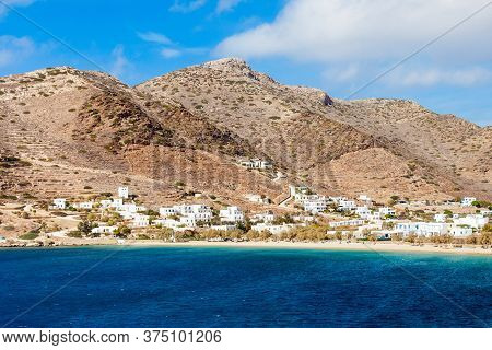 Ios Town And Chora Village, Ios Island, Cyclades In Greece
