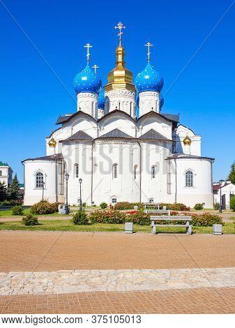 Annunciation Cathedral Of Kazan Kremlin Is The First Orthodox Church Of The Kazan Kremlin. The Kazan