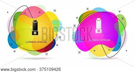 Color Inhaler Icon Isolated On White Background. Breather For Cough Relief, Inhalation, Allergic Pat