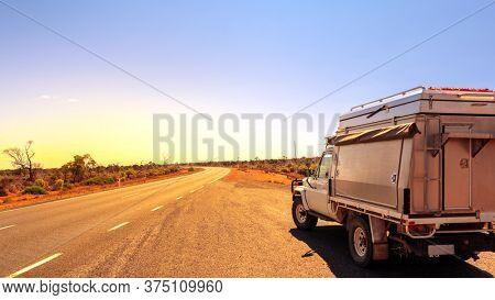 An image of an Australia road trip off road car