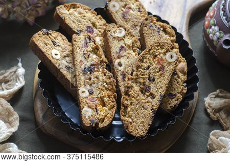 Italian Biscotti Cookies With Dried Fruits And Nuts