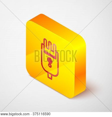 Isometric Line Electrical Hair Clipper Or Shaver Icon Isolated On Grey Background. Barbershop Symbol