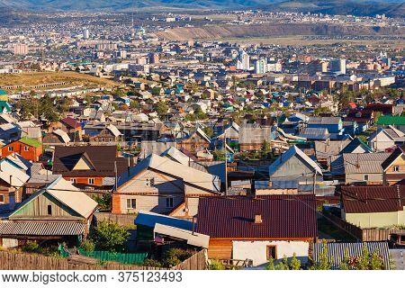 Ulan-ude Aerial Panoramic View. Ulan Ude Is The Capital City Of The Republic Of Buryatia, Russia