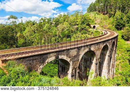The Nine Arches Demodara Bridge Or The Bridge In The Sky Is One Of The Iconic Bridges In Sri Lanka.