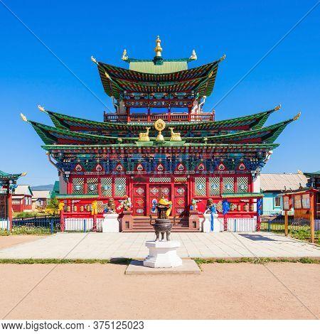 Ivolginsky Datsan Monastery Is The Buddhist Temple Located Near Ulan-ude City In Buryatia, Russia