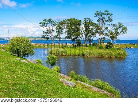 Russky Island Landscape. Russky Island Is An Island Off Vladivostok In Primorsky Krai, Russia In The