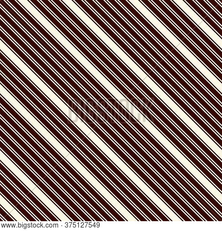 Outline Diagonal Stripes Abstract Background. Thin Slanting Line Wallpaper. Seamless Pattern With Cl