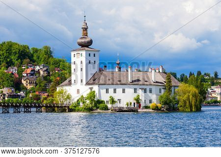 Gmunden Schloss Ort Or Schloss Orth In The Traunsee Lake In Gmunden City. Schloss Ort Is An Austrian