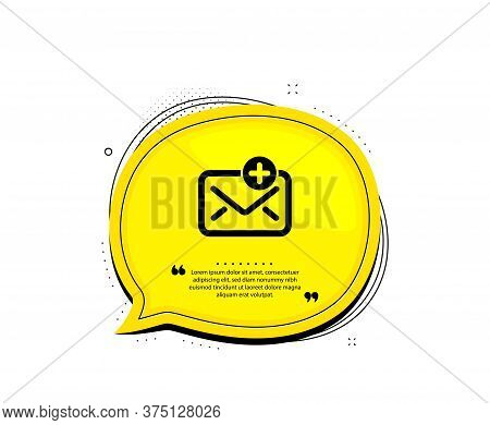 New Mail Icon. Quote Speech Bubble. Add Message Correspondence Sign. E-mail Symbol. Quotation Marks.
