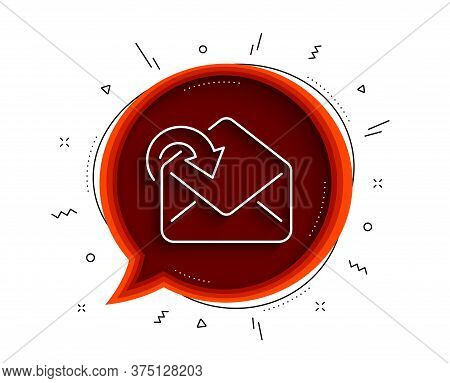 Receive Mail Download Line Icon. Chat Bubble With Shadow. Incoming Messages Correspondence Sign. E-m