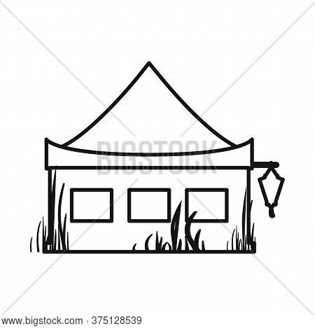 Isolated Object Of Stilts And Wood Logo. Collection Of Stilts And Patio Stock Vector Illustration.
