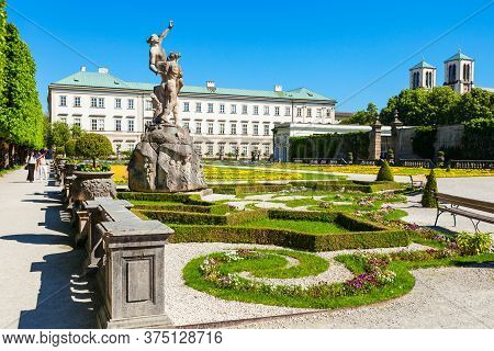 Mirabell Palace Or Schloss Mirabell Is A Historical Building In Salzburg City, Austria. Mirabell Pal