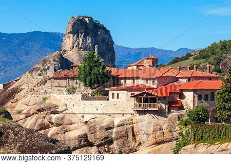 The Holy Trinity Monastery, Also Known As Agia Triada Is An Eastern Orthodox Monastery At Meteora In