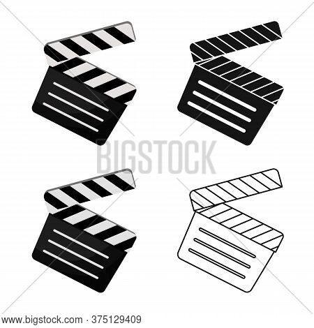 Isolated Object Of Studio And Clapper Symbol. Graphic Of Studio And Cinema Stock Symbol For Web.