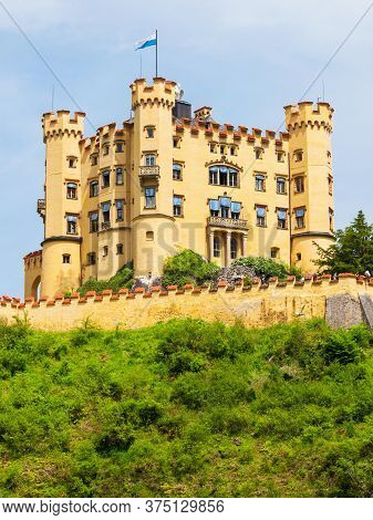 Schloss Hohenschwangau Castle Or Upper Swan County Palace Is A Palace In Hohenschwangau Village Near