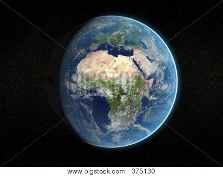 Photorealistic Earth.
