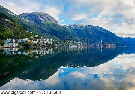 Odda Is A Town In Odda Municipality In Hordaland County, Hardanger District In Norway. Located Near