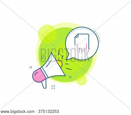 Backup Data Sign. Megaphone Promotion Complex Icon. Recovery File Line Icon. Restore Document Symbol