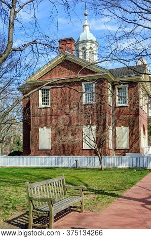 Carpenters Hall, Home To First Continental Congress Of 1774, Philadelphia, Usa