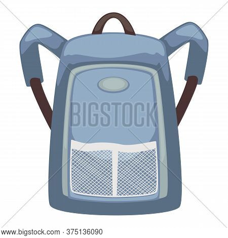 Backpack With Adjustable Straps, Bag With Pockets Vector