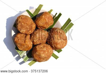 Sweet Palm Jaggery In A Plate Isolated On White Background With Copy Space For Texts Writing