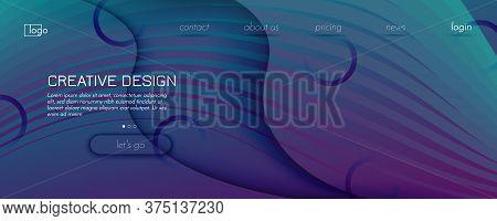 Graphic Fluid. 3d Flow Shape Pattern. Wave Futuristic Banner. Vibrant Technology Illustration. Dynam