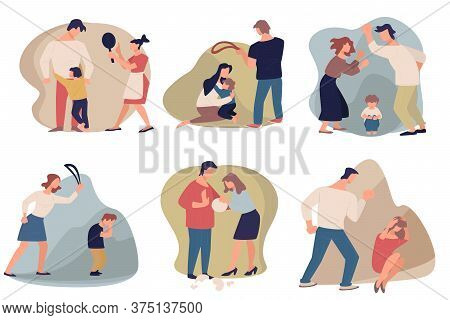 Domestic Violence And Aggression In Families, People Quarreling