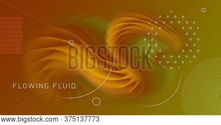 Colorful Vector Design. Wave Shape. Abstract Background. Color Geometric Poster. Dynamic Motion. Col