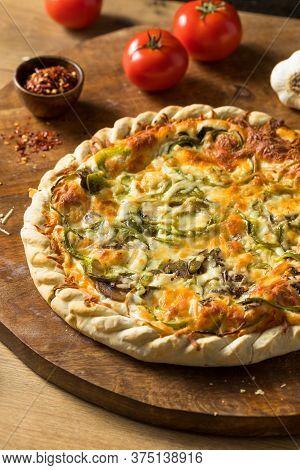 Homemade Vegeterian Supreme Pizza