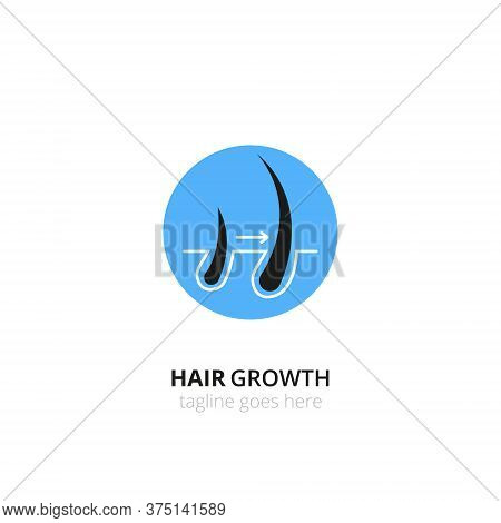 Hair Growth, Transplantation Logo Concept For Design. Vector Healthcare Medicine Icon