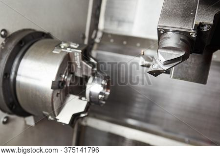 process of metal machining on CNC machine center