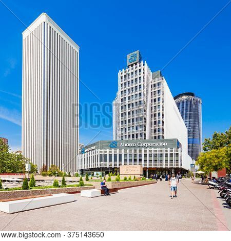 Madrid, Spain - September 21, 2017: View Of Business Districts Of Azca And Ctba In Madrid, Spain