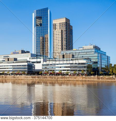 Buenos Aires, Argentina - May 03, 2016: The Hilton Buenos Aires Is A Five Star Hotel In The Argentin