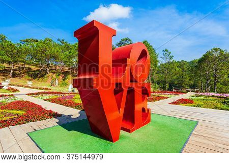 Dalat, Vietnam - March 13, 2018: The Valley Of Love Park Or Thung Lung Tinh Yeu In Dalat City In Vie