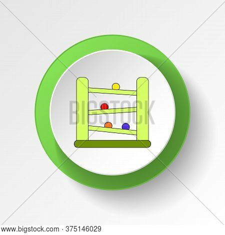 Cartoon Downhill Racers Toy Colored Button Icon. Signs And Symbols Can Be Used For Web, Logo, Mobile
