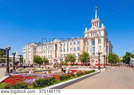 Ulan-ude, Russia - July 15, 2016: Dom Radio House In Ulan Ude, Republic Of Buryatia In Russia