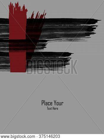 Grungy Vector Background Creative Design. Elements For Design. Hand Drawn Ink Blotchs. Eps10