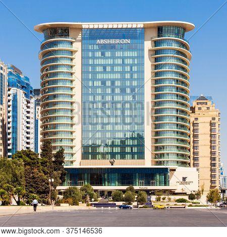 Baku, Azerbaijan - September 14, 2016: Jw Marriott Absheron Baku Is A Luxury 5 Star Hotel In The Cen
