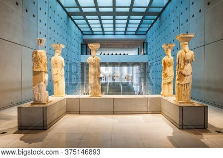 Athens, Greece - October 19, 2016: The Acropolis Museum Is An Archaeological Museum Focused On The F