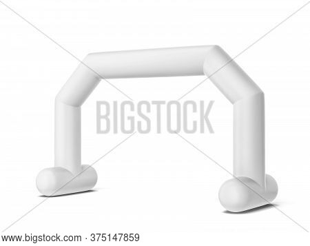 Inflatable Promotion Arch Mock Up. 3d Illustration Isolated On White Background