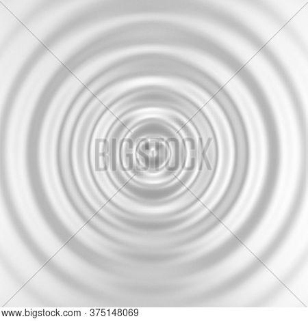 Blank Ripple Effect. 3d Background For Design