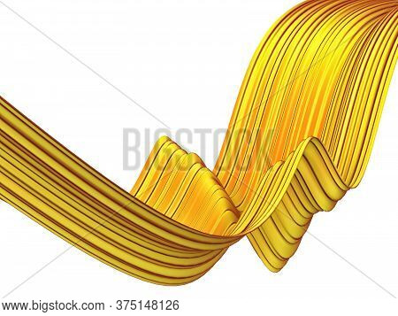 Abstract Colorful Ribbon Shape. 3d Illustration Isolated On White Background