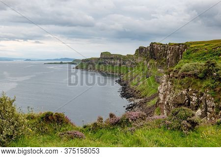 Landscape Of Rubha Nam Brathairean (brothers Point) In Isle Of Skye In Scotland With Viewed From Kil
