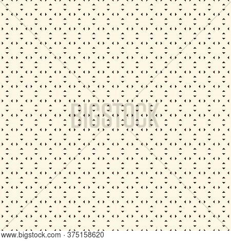 Repeated Mini Triangles Minimalist Background. Simple Abstract Wallpaper. Seamless Pattern With Geom