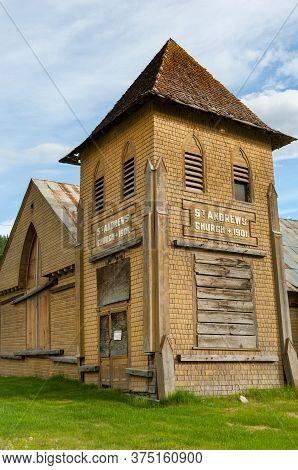 Historic St Andrews Church From Gold Rush Era, Dawson City, Yukon Territory