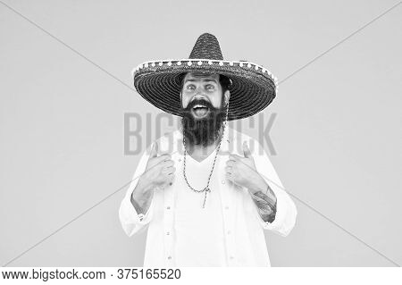 Plan Summer Vacation. Tourism Concept. Hipster Having Fun. Cheerful Mood. Mexican Traditions. Explor